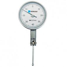 Головка измерительная Norgau рычажная - 0,8 мм, ц.д. 0,01 мм (циферблат 37,5 мм)(наконечник 46,4 мм)